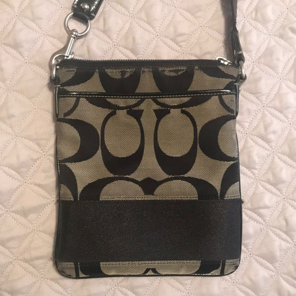 Coach Crossbody Canvas Messenger Bag